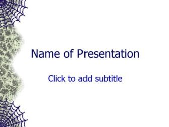 Spider web Free PowerPoint Template