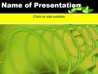 Spirals on a green background Free PowerPoint Template
