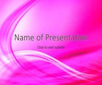 Tender pink abstraction Free PowerPoint Template