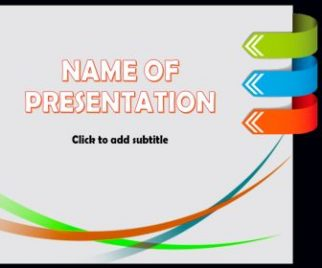 Colored lines and arrows Free PowerPoint Template