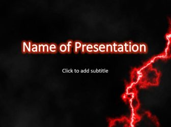 Red Lightning Free PowerPoint Template