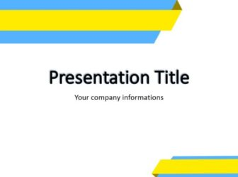 Colored skew lines Free PowerPoint Template