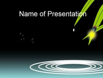 Animated template with a drop of water, month and cloud Free PowerPoint Template