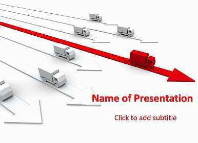 Auto Transport Free PowerPoint Template