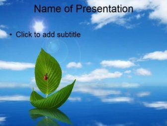 Water Resources Water Template For Presentation On Ecology