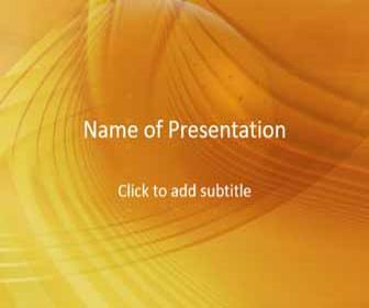 Gold background and spirals Free PowerPoint Template