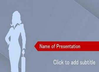Business-lady Free PowerPoint Template