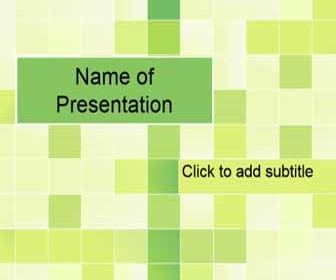 Light background with green squares Free PowerPoint Template