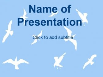 Birds in the sky Free PowerPoint Template