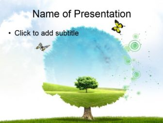 Green tree Free PowerPoint Template
