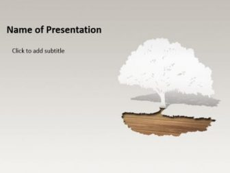 Guard of trees Free PowerPoint Template