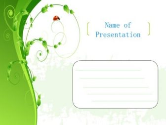 Green sprout Free PowerPoint Template