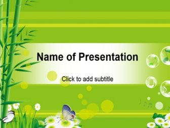 bamboo free template for presentation