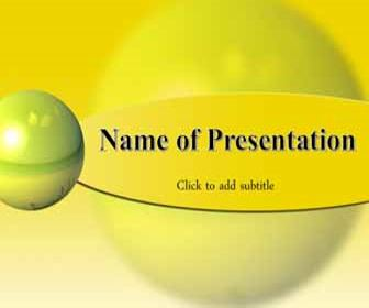 Yellow sphere Free PowerPoint Template