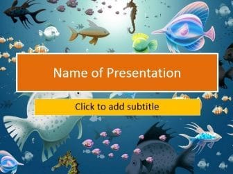 Submarine world Free PowerPoint Template