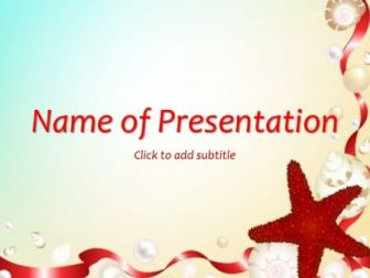 Starfish Free PowerPoint Template