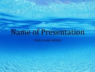 Blue sea Free PowerPoint Template