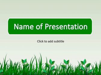 Green Grass Free PowerPoint Template