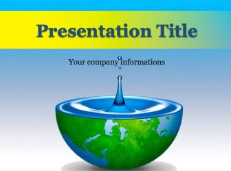 Save Water Powerpoint Template Free Ppt