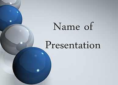 3d balls Free PowerPoint Template