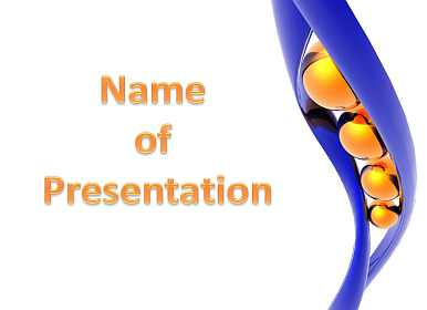 Gold balls Free PowerPoint Template