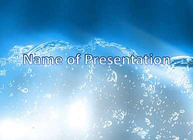 Water and drops Free PowerPoint Template
