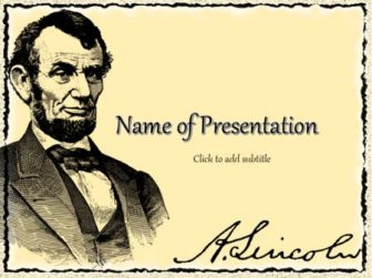 Abraham Lincoln Free PowerPoint Template