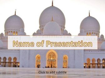 Abu Dhabi Mosque Free PowerPoint Template