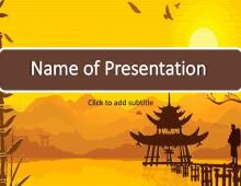 Asia Free PowerPoint Template