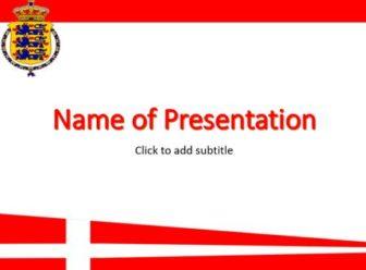 Denmark Free PowerPoint Template