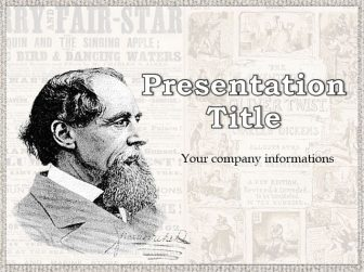 Charles Dickens Free PowerPoint Template