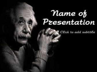 Einstein Free PowerPoint Template
