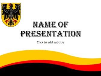 German Flag, Name Of Presentation, German Logo,
