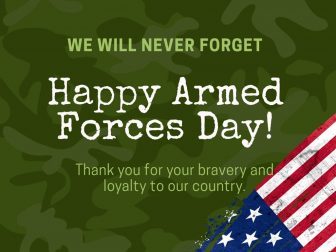 Happy Armed Forces Day Free PowerPoint Template