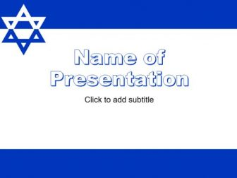 Israel Free PowerPoint Template
