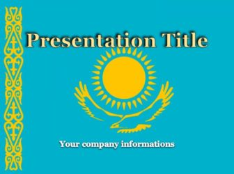 National Flag of Kazakhstan Free PowerPoint Template