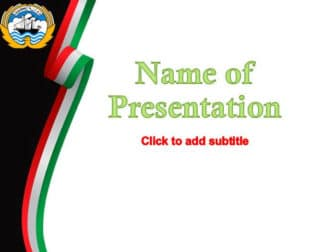 Kuwait Free PowerPoint Template