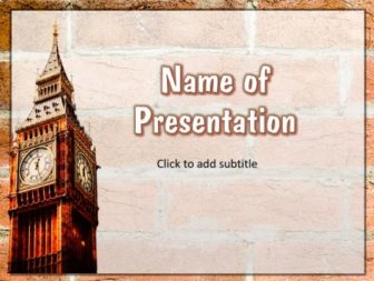 London Big Ben Free PowerPoint Template