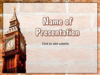 London Big Ben Free PowerPoint Template