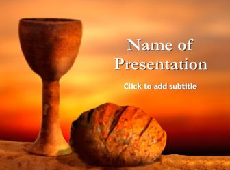 Maundy Thursday Free PowerPoint Template