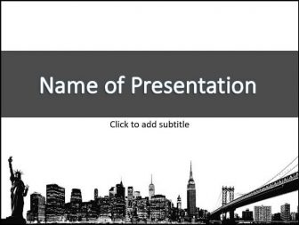 New York Free PowerPoint Template