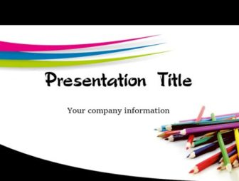 Pencils Free PowerPoint Template