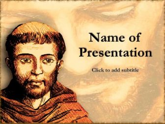 Saint Francis of Assisi Free PowerPoint Template
