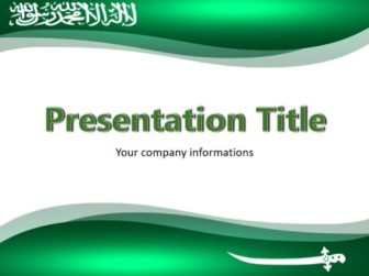 Saudi arabia flag powerpoint templates free download useful for various projects and presentations about of economy or culture of saudi arabia visit us for more free ppt templates and themes toneelgroepblik Images