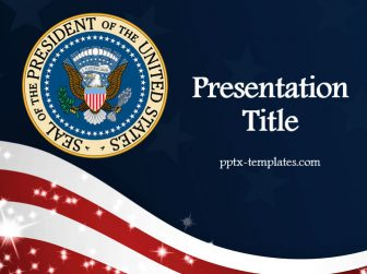 The Seal of the President of the USA Free PowerPoint Template