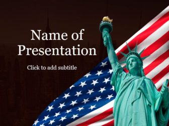 Statue of Liberty Free PowerPoint Template