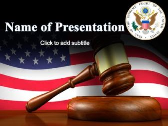Supreme Court of the United States Free PowerPoint Template