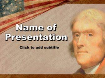 Thomas Jefferson Free PowerPoint Template