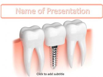 Tooth Implant Free PowerPoint Template