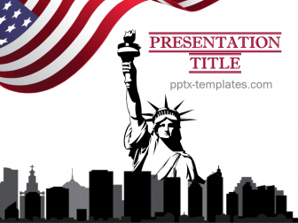 US Patriotic Free PowerPoint Template